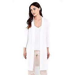 Wallis - Ivory longline cardigan