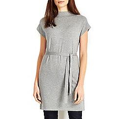 Wallis - Grey belted sleveless tunic