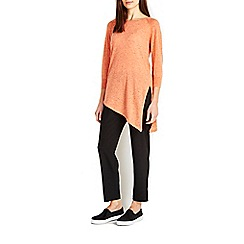 Wallis - Orange asymetric tunic jumper