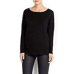 Wallis - Black metallic fleck jumper