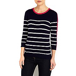 Wallis - Piink and navy striped jumper