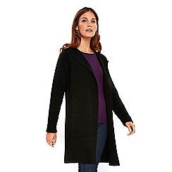 Wallis - Black double faced coatigan