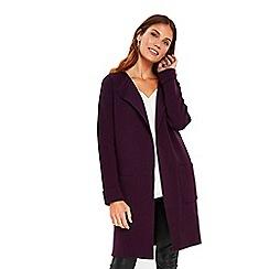 Wallis - Purple double faced coatigan