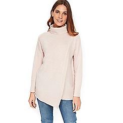 Wallis - Blush sparkle wrap front jumper
