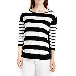Wallis - Mono border stripe jumper