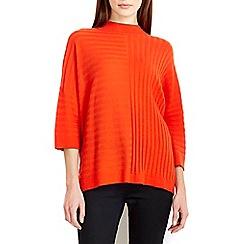 Wallis - Orange ribbed boxy jumper