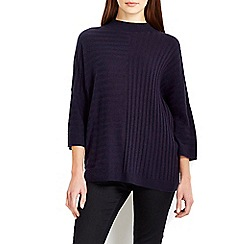 Wallis - Navy ribbed boxy jumper
