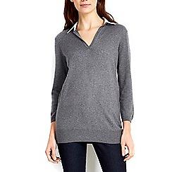 Wallis - Grey 2 in 1 v-neck jumper