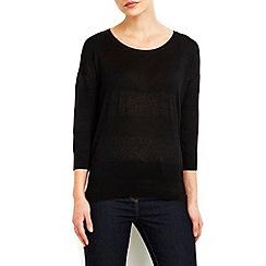 Wallis - Black sheer stripe jumper