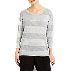 Wallis - Silver sheer stripe jumper
