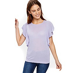 Wallis - Lilac frill sleeves top