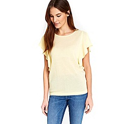 Wallis - Lemon frill sleeve top