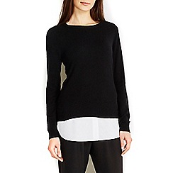Wallis - Black 2in1 shirt jumper