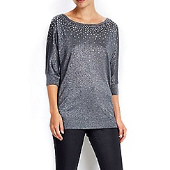 Wallis - Gunmetal hotfix v back jumper