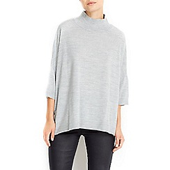 Wallis - Grey boxy swing jumper