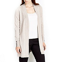 Wallis - Stone button longline cardigan