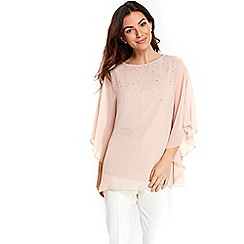Wallis - Pink embellished sparkle top