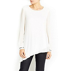 Wallis - Embellished cuff pleat top
