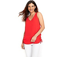 Wallis - Red drawstring side camisole top