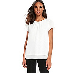 Wallis - Ivory double layer top