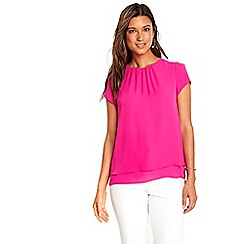 Wallis - Hot pink double layer top