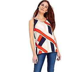 Wallis - Orange colour block camisole top