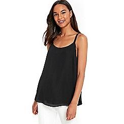 Wallis - Black strappy camisole top