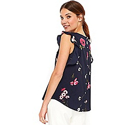 Wallis - Pink daisy floral shell top