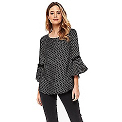 Wallis - Black spot trim top