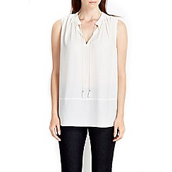 Wallis - Sleeveless tie neck blouse