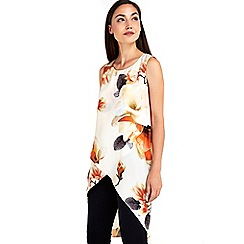 Wallis - Orange floral layer top