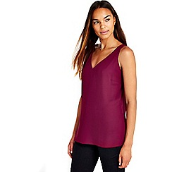 Wallis - Berry v-neck camisole top