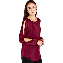 Wallis - Wine drape top