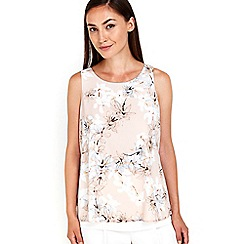 Wallis - Blush floral print top
