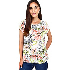 Wallis - Cream floral print shell top