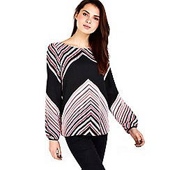 Wallis - Pink chevron printed top