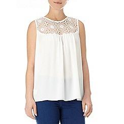 Wallis - Cream lace panel blouse