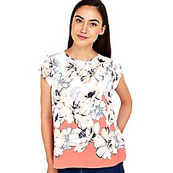 Wallis - Floral border shell top