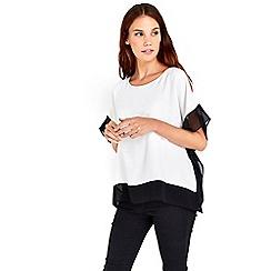 Wallis - Blocked split sleeve top