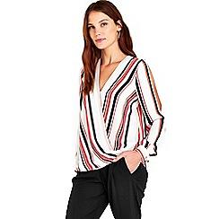 Wallis - Stripe wrap top