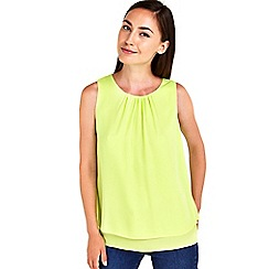 Wallis - Green sleeveless double layer
