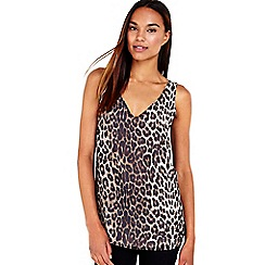 Wallis - Stone animal printed camisole top