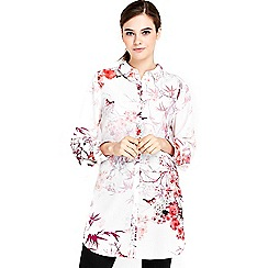 Wallis - Floral bird printed shirt