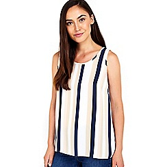 Wallis - Blush stripe shell top