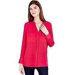Wallis - Plain fushia shirt