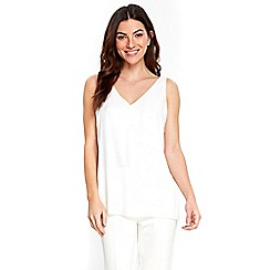 Wallis - Ivory v-neck camisole top