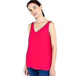 Wallis - Pink v-neck camisole top