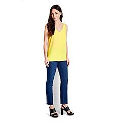 Wallis - Lime v-neck camisole top