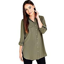 Wallis - Khaki long sleeved shirt