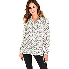Wallis - Cream leopard printed shirt